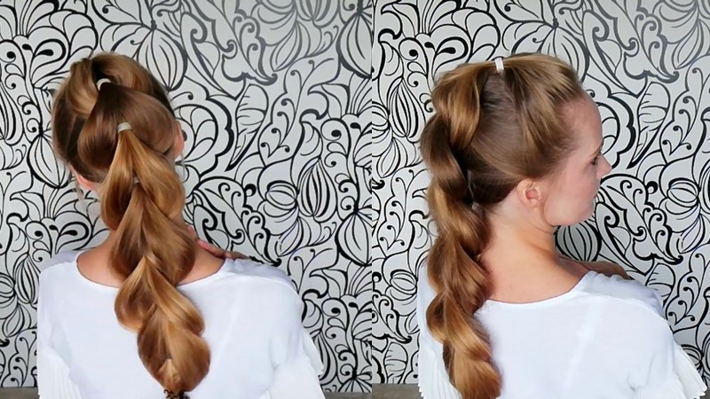 Коса без плетения пошагово
